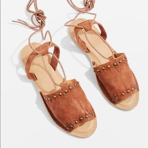Topshop Hope Studded Lace-Up Sandals
